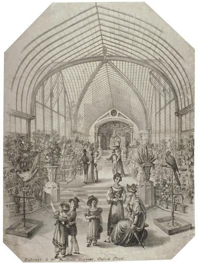 Conservatory of the Pantheon, Oxford Street, Westminster, London, C1830-Charles James Richardson-Giclee Print