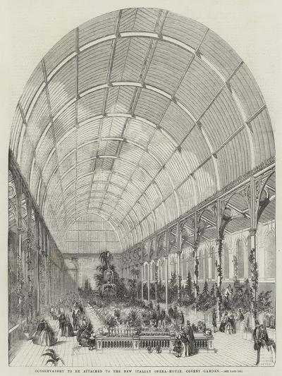 Conservatory to Be Attached to the New Italian Opera-House, Covent Garden--Giclee Print