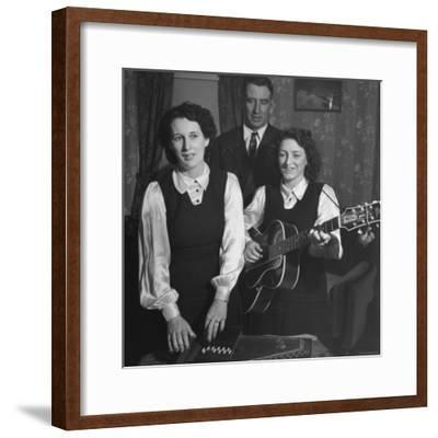 Considered the Father of Country Western Music A. P. Carter Singing with Wife Sara-Eric Schaal-Framed Premium Photographic Print