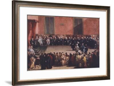Consillium in Arena-Giandomenico Tiepolo-Framed Giclee Print