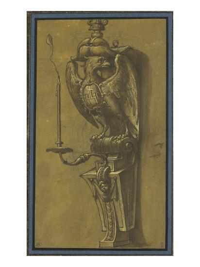 Console supportant un candélabre-Jacopo Ligozzi-Giclee Print