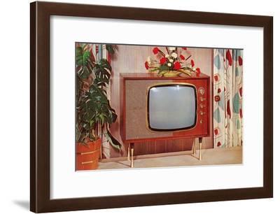 Console TV, Retro--Framed Art Print