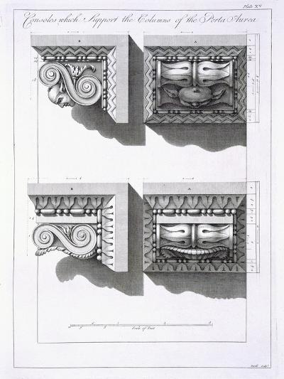 Consoles Which Support Columns of the Porta Aurea-Robert Adam-Giclee Print