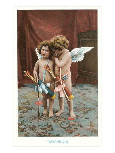 Conspirators, Two Victorian Cupids--Art Print