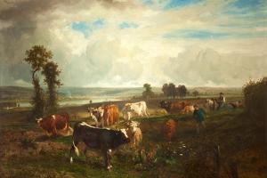 Landscape, Les Hauteurs De Suresnes, 1856 by Constant-emile Troyon