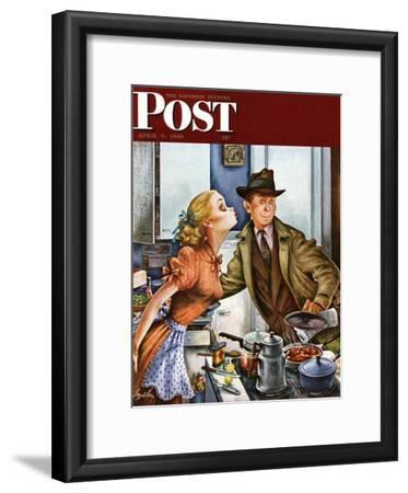 """""""Before Dinner Kiss?,"""" Saturday Evening Post Cover, April 9, 1949"""