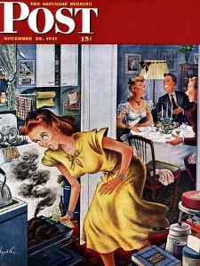 """Burnt Turkey,"" Saturday Evening Post Cover, November 29, 1947 by Constantin Alajalov"