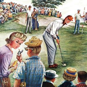 """Distracted Pro Golfer,"" July 2, 1960 by Constantin Alajalov"