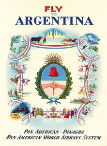 Fly to Argentina - Pan American-Panagra - Pan American World Airways System by Constantin Alajalov