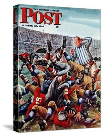 """""""Football Pile-up,"""" Saturday Evening Post Cover, October 23, 1948"""