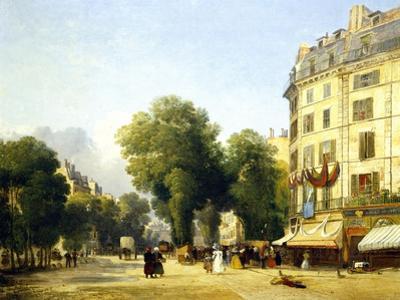 France, Paris, Boulevard Des Capucines at Corner of Rue De La Paix, 1823