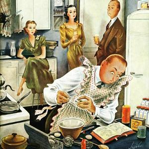 """Gourmet Cook?,"" April 13, 1946 by Constantin Alajalov"