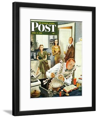 """Gourmet Cook?,"" Saturday Evening Post Cover, April 13, 1946"