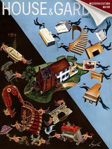 House & Garden Cover - September 1939 by Constantin Alajalov
