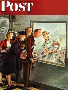 """Maternity Ward,"" Saturday Evening Post Cover, November 2, 1946 by Constantin Alajalov"