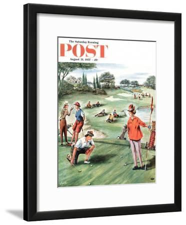 """""""No Playing Through"""" Saturday Evening Post Cover, August 31, 1957"""