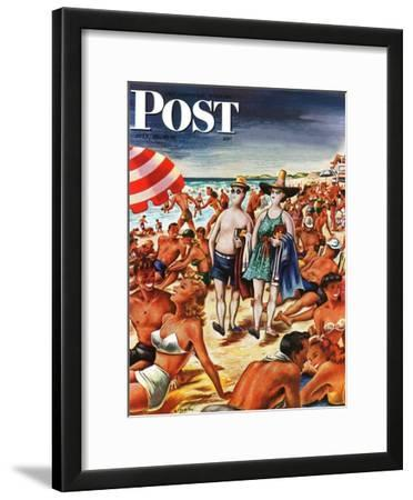 """Palefaces at the Beach,"" Saturday Evening Post Cover, July 27, 1946"