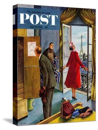 """Paris Hotel"" Saturday Evening Post Cover, July 14, 1956"
