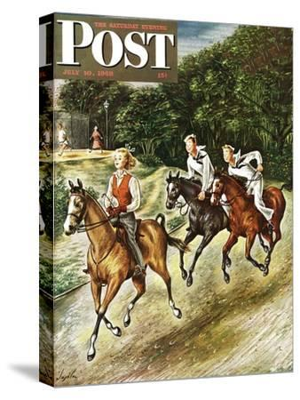 """""""Sailors on Girl Chase,"""" Saturday Evening Post Cover, July 10, 1948"""