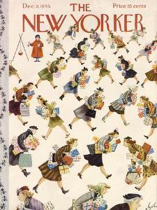 The New Yorker Cover - December 8, 1945 by Constantin Alajalov