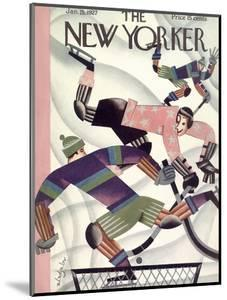 The New Yorker Cover - January 15, 1927 by Constantin Alajalov