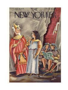 The New Yorker Cover - January 19, 1935 by Constantin Alajalov