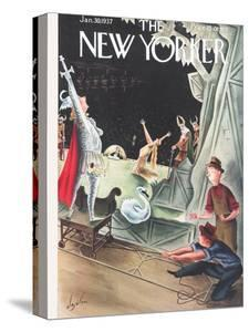The New Yorker Cover - January 30, 1937 by Constantin Alajalov