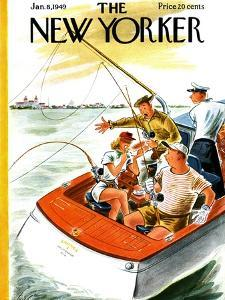 The New Yorker Cover - January 8, 1949 by Constantin Alajalov