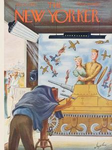 The New Yorker Cover - July 22, 1944 by Constantin Alajalov