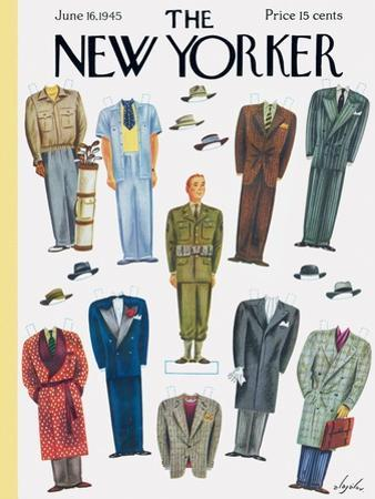 The New Yorker Cover - June 16, 1945 by Constantin Alajalov