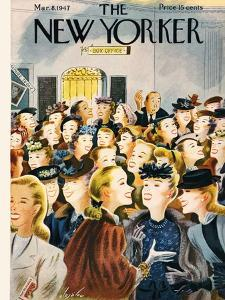 The New Yorker Cover - March 8, 1947 by Constantin Alajalov
