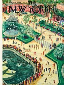 The New Yorker Cover - May 26, 1945 by Constantin Alajalov