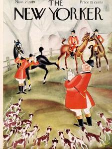 The New Yorker Cover - November 2, 1929 by Constantin Alajalov