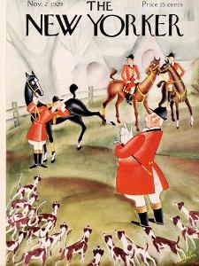 The New Yorker Cover - November 2, 1929 by Constantin Alajalov