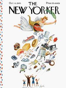 The New Yorker Cover - October 6, 1945 by Constantin Alajalov