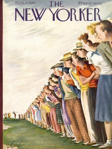 The New Yorker Cover - September 4, 1948 by Constantin Alajalov