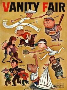 Vanity Fair Cover - August 1933 by Constantin Alajalov
