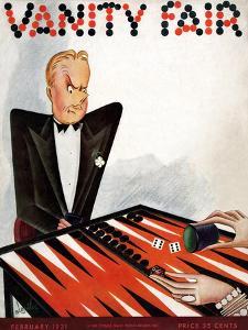 Vanity Fair Cover - February 1931 by Constantin Alajalov