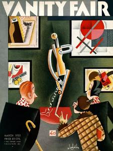 Vanity Fair Cover - March 1930 by Constantin Alajalov