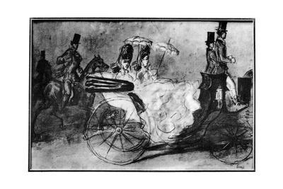 'Taking the Air', 19th century, (1930). Artist: Constantin Guys
