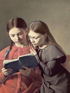The Artist's Two Youngest Sisters, 1826 by Constantin Hansen