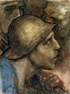 Head of a Worker by Constantin Meunier