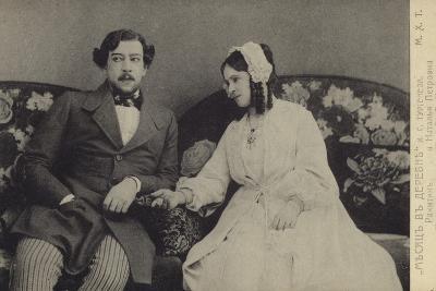 Constantin Stanislavski and Olga Knipper, Russian Actors--Photographic Print