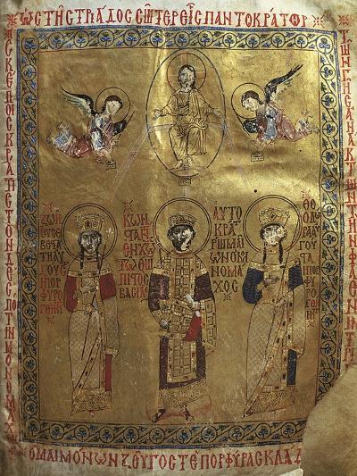 Constantine IX Monomakh, His Wife Zoe of Byzantium and Byzantine Empress Theodora of Byzantium--Giclee Print