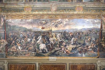Constantine's Battle at the Milvian Bridge-Raphael-Giclee Print