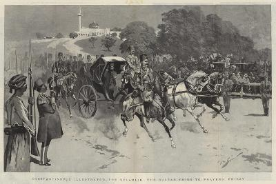 Constantinople Illustrated, the Selamlik, the Sultan Going to Prayers, Friday--Giclee Print