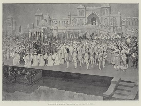 Constantinople in London, the Spectacular Performance at Olympia-Amedee Forestier-Giclee Print