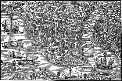 Constantinople, Mid 16th Century-Giovanni Andrea Vavassori-Giclee Print