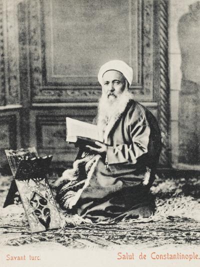 Constantinople - Turkish Religious Scholar--Photographic Print