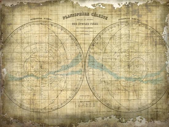 Constellation Map 1-Kimberly Allen-Art Print